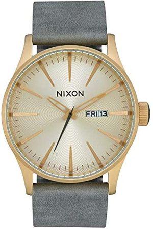 NIXON Unisex Adult Analogue Quartz Watch with Leather Strap A105-2982-00