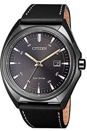 Citizen Mens Analogue Quartz Watch with Leather Strap AW1577-11H