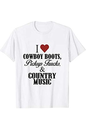 Kent73- Country music t-shirt for women I love cowboy boots