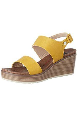Leatherman Women's 49866 Platform Sandals, (Amarillo Amarillo)