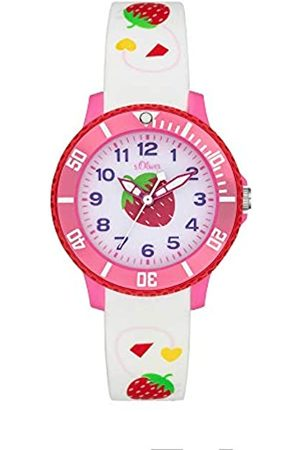 s.Oliver Girl's Analogue Quartz Watch with Silicone Strap SO-4000-PQ