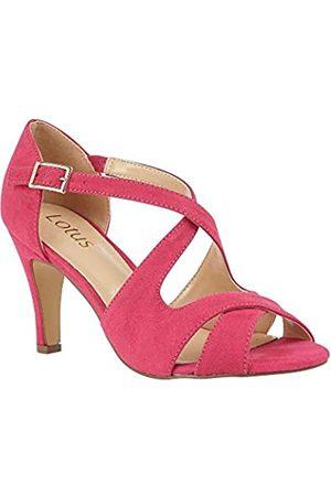 Lotus Women's Sadia Open Toe Heels, (Fuschia Dk)