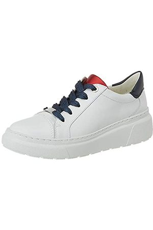 ARA Women's Lausanne Low-Top Sneakers, (Weiss,Blau/Rot 09)