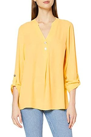 Dorothy Perkins Women's Double Button Collarless Roll Sleeve Top Blouse