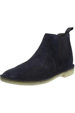 Clarks Originals Men's Desert Chelsea Boots, (Navy Suede Navy Suede)