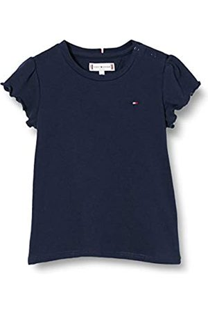 Tommy Hilfiger Girl's Essential Ruffle Sleeve TOP S/S T - Shirt