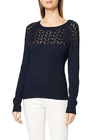 Dorothy Perkins Women's Navy Textured Yoke Detail Jumper Pullover Sweater