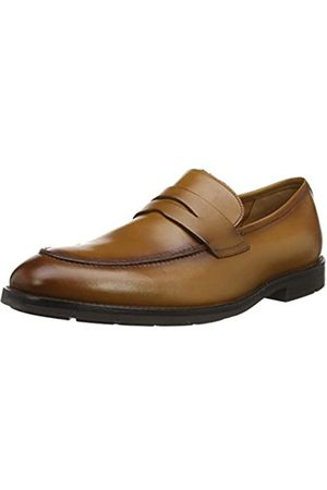 Clarks Men's Ronnie Step Loafers, (Tan Leather Tan Leather)