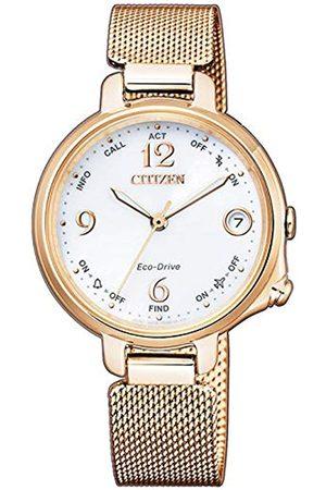Citizen Womens Analogue-Digital Solar Powered Watch with Stainless Steel Strap EE4033-87A