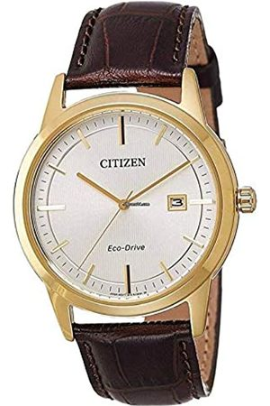 Citizen Men's Analogue Eco-Drive Watch with Leather Strap AW1233-01A