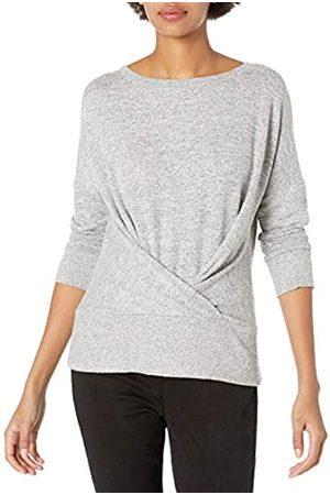 Daily Ritual Cozy Knit Pleat Front Draped Sweatshirt Shirt
