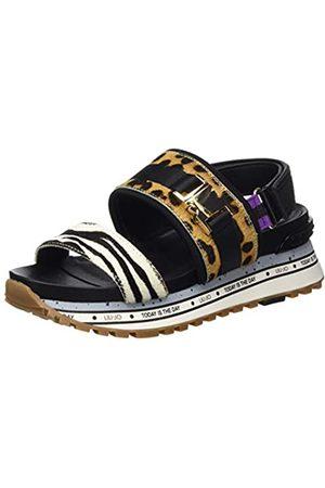 Liu Jo Shoes Women's Liu Jo Wonder Maxi 06-Sandal Open Toe, (Leopard S19c1)
