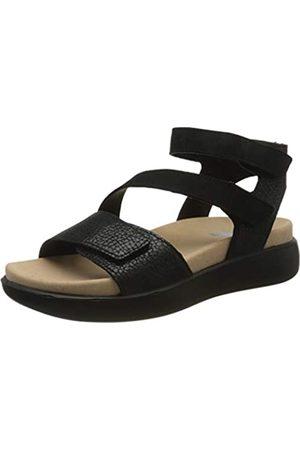 Romika Women's Borneo 07 Sling Back Sandals, (Schwarz 100)