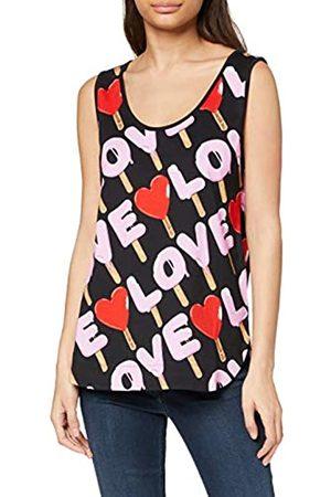 Love Moschino Women's Tank Top_Allover Ice Cream&Logo Prints Vest