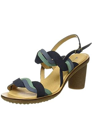 El Naturalista Women's N5163 Pleasant Trivia Open Toe Heels, (Ocean Mixed Ocean Mixed)