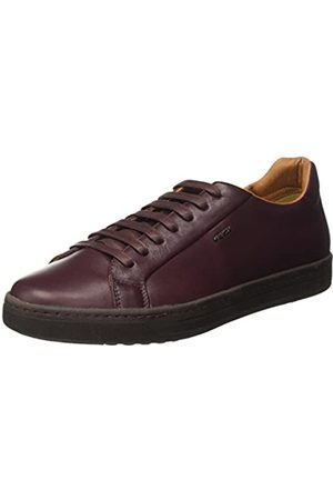 Geox Men's Uomo Ricky F Low-Top Sneakers, (Dk Burgundy)