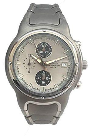 Chronotech Mens Analogue Quartz Watch with Titanium Strap CT7354M-03M