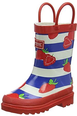 Regatta Unisex Kid's Minnow' Rubber Cotton Lined EVA Footbed Print Wellingtons Rain Boot