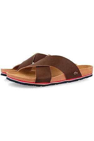 GIOSEPPO Men's Bampton T-Bar Sandals, (Marron Marron)
