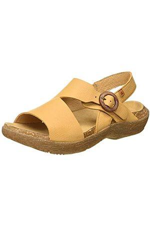 El Naturalista Women's N5700 Soft Grain WAKATIWAI Open Toe Sandals, (Curry Curry)