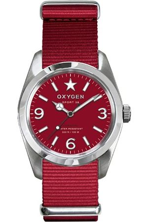 Oxygen Ruby 38 Unisex Quartz Watch with Dial Analogue Display and Nylon Strap