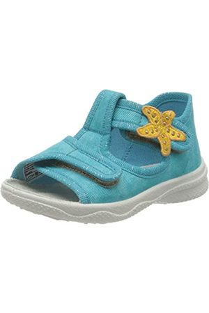 Superfit Girls' Polly Hi-Top Slippers, Turquoise (Grün 71)