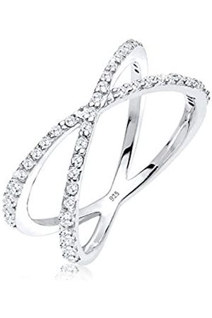 Elli Women's Ring in 925 Sterling with Zirconia Crossed