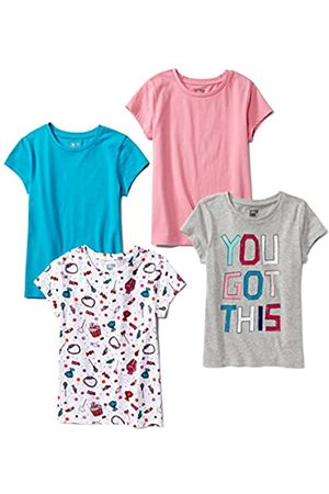 Spotted Zebra Amazon Brand - 4-pack Short-sleeve T-shirts Candy, L