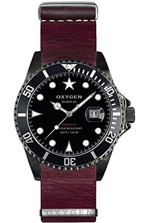 Oxygen Moby Dick 40 Mens Quartz Watch with Dial Analogue Display and Leather Strap EX-D-MBB-40-NL-PL