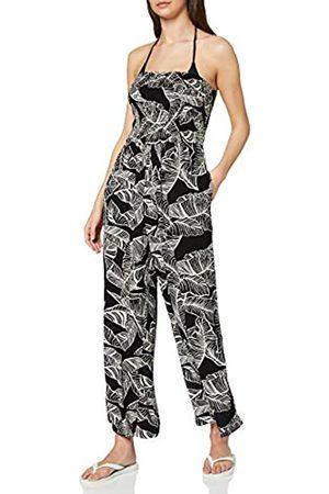 Dorothy Perkins Women's Monochrome Leaf Print Crinkle Playsuit Swimwear Cover Up