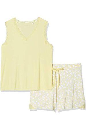 Schiesser Women's Anzug Kurz, 0/0 Arm Pyjama Set