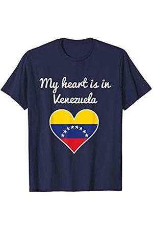 Vishtea My Heart is Venezuela in Tee your FAVORITE Map Heart T-Shirt