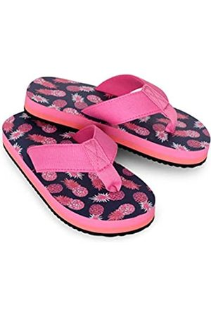 Hatley Girls' Sandals Flip Flops, (Party Pineapples 400)