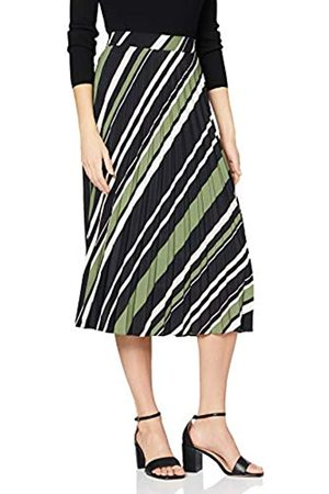 Dorothy Perkins Women's Stripe Print Pleated Midi Skirt