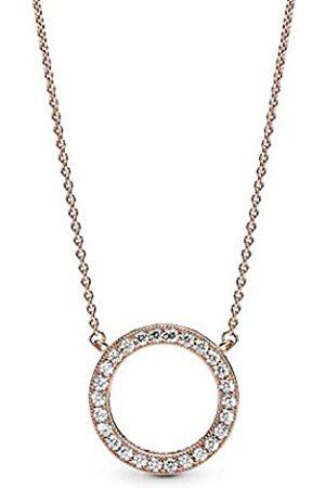 Pandora Women Plated Pendant Necklace - 580515CZ-45