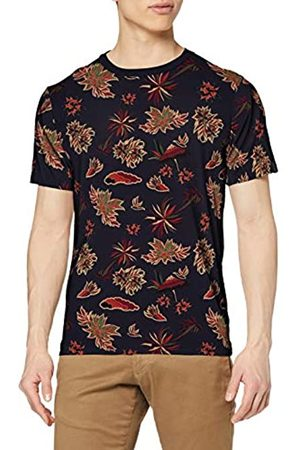 Scotch & Soda Men's Crewneck Tee with Seasonal All-Over Print Outdoor Gilet