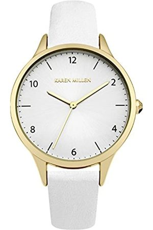 KAREN MILLEN Women's Quartz Watch with Dial Analogue Display and Leather Strap KM147WG