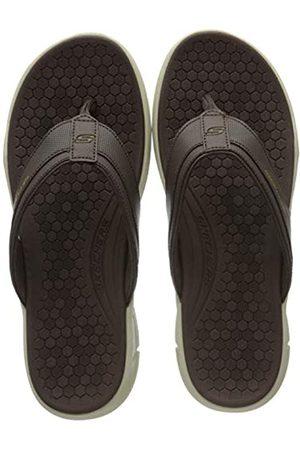 Skechers Men's Equalizer 4.0 SERASA Flip Flops, ( Pu/Trim BRN)