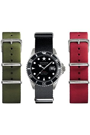 Oxygen Moby Dick 40 Set Unisex Quartz Watch with Dial Analogue Display and Nylon Strap EX-D-MOB-40-3S