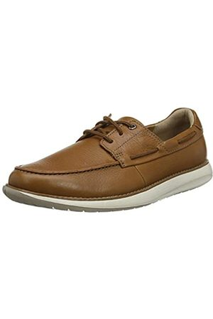Clarks Men's Un Pilot Lace Low-Top Sneakers, (Tan Leather Tan Leather)