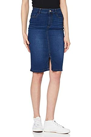 Dorothy Perkins Women's Indigo Denim Midi Skirt