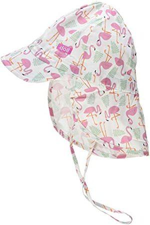 Döll Girls' Bindemütze mit Schirm und Nackenschutz Hat|