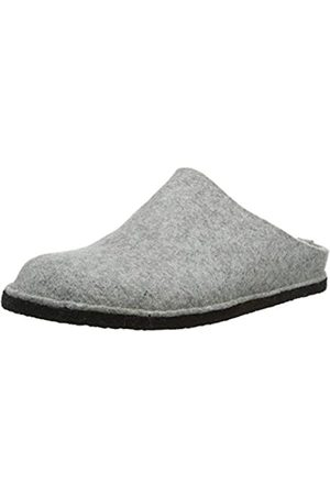 HAFLINGER Men's Flair Soft Open Back Slippers, (Steingraumeliert 84)