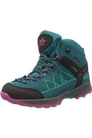 Lico Girls' Griffin High Cross Country Running Shoe, Petrol/Schwarz/