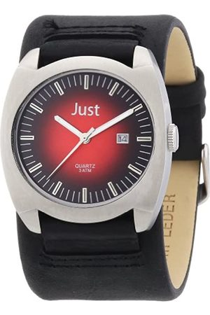 Just Watches Men's Quartz Watch 48-S1992-RD-BK with Leather Strap