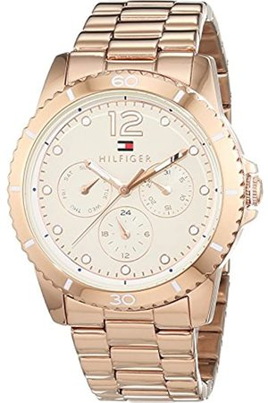 Tommy Hilfiger Women's Quartz Watch with Black Dial Analogue Display Quartz Stainless Steel Coated 1781584