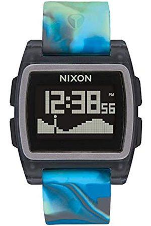 NIXON Mens Digital Watch with Silicone Strap A1104-3176-00