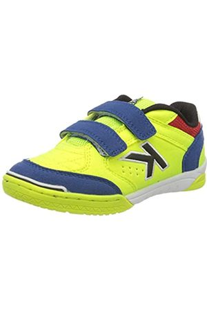 kelme Boys' Precision V Futsal Shoes, (Lima Y Azul 670)