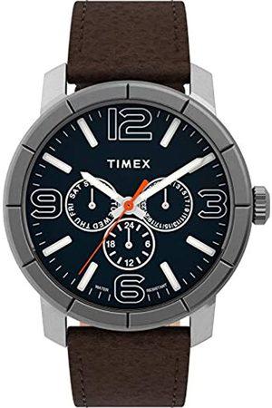 Timex Men's Mod44 Multifunction 44 mm Leather Strap Watch TW2U15300
