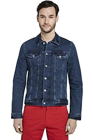 TOM TAILOR Men's Trucker Denim Jacket, 10281-Mid Stone Wash